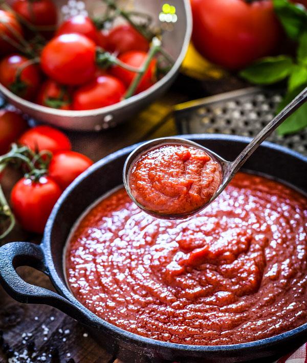Soßen|Geschälte Tomaten