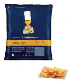 Wavy Fries 4x2,5Kg Glutenfrei LAMB WESTON