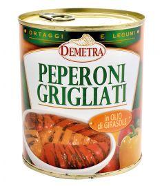 Paprika gegrillt in Sonnenblumenöl 740g DEMETRA