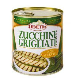 Gegrillte Zucchini in Sonnenblumenöl 800g DEMETRA