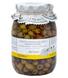 Schwarze Oliven entkernt 950g  ANFOSSO