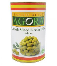 Grüne Olivenscheiben 3,8Kg  AGORA'