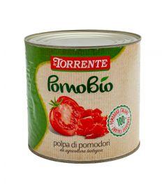 Bio Geschälte Tomaten Ganz 6x3Kg 100% Italien LA TORRENTE