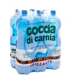 Natürliches Mineralwasser m/Kohlensäure 6x1,5L PET  GOCCIA DI CARNIA