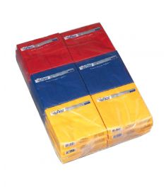 Servietten 2-lagig 33x33cm 18x50Stk gelb/blau/rot  ASTOR