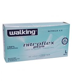 Einweghandschuhe Nitrofelx blau Gr. L  WALKING