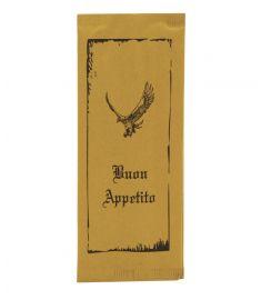 Bestecktasche Strohpapier Adler