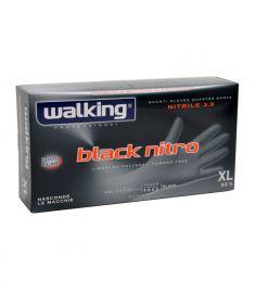 Einweghandschuhe Nitrile Schwarz Gr. XL 100Stk WALKING