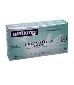 Einweghandschuhe Nitroflex blau Gr. M WALKING